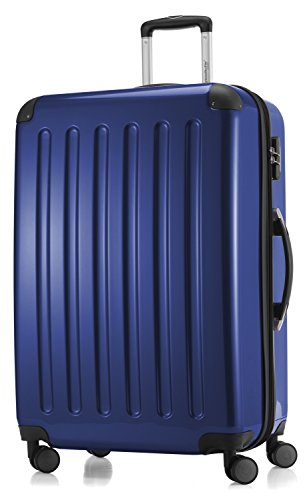 HAUPTSTADTKOFFER - Alex - Luggage Suitcase Hardside Spinner Trolley 4 Wheel Expandable, 75cm, dark blue