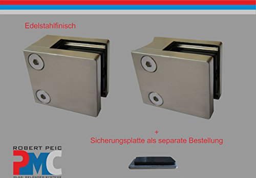 Acier Inoxydable Inox glashalter glasklemme Glass Clamp v2a//plat