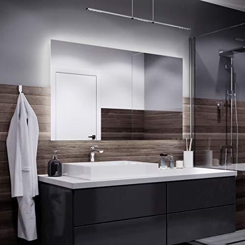 Alasta Dubai Espejo - 120x60cm Espejo de baño con iluminación LED - Bianco Firo LED