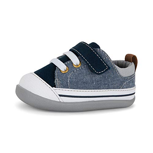 See Kai Run, Stevie II Sneakers for Infants, Blue Denim, 4