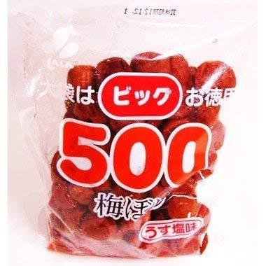 新進 ビッグ500 梅干 白 500g [5512]