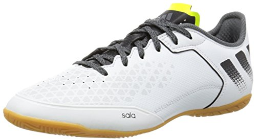 adidas Ace 16.3 Court, Chaussures de Football Entrainement Homme, Blanc (Rose Crystal White/Core Black/Solar Yellow), 40 2/3 EU