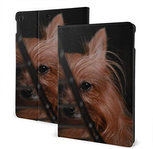 Brown Dog Running Case for IPad Air 3rd Gen 10.5' 2019 / IPad Pro 10.5' 2017 Multi-Angle Folio Stand Auto Sleep/Wake for IPad 10.5 Inch Tablet-Brown Yorkshire Terrier-One Size