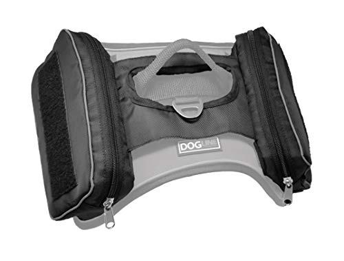 Dogline Saddle Bag Quest No-Pull Dog Harness Supporting Removable Patches Large & Extra Large Black