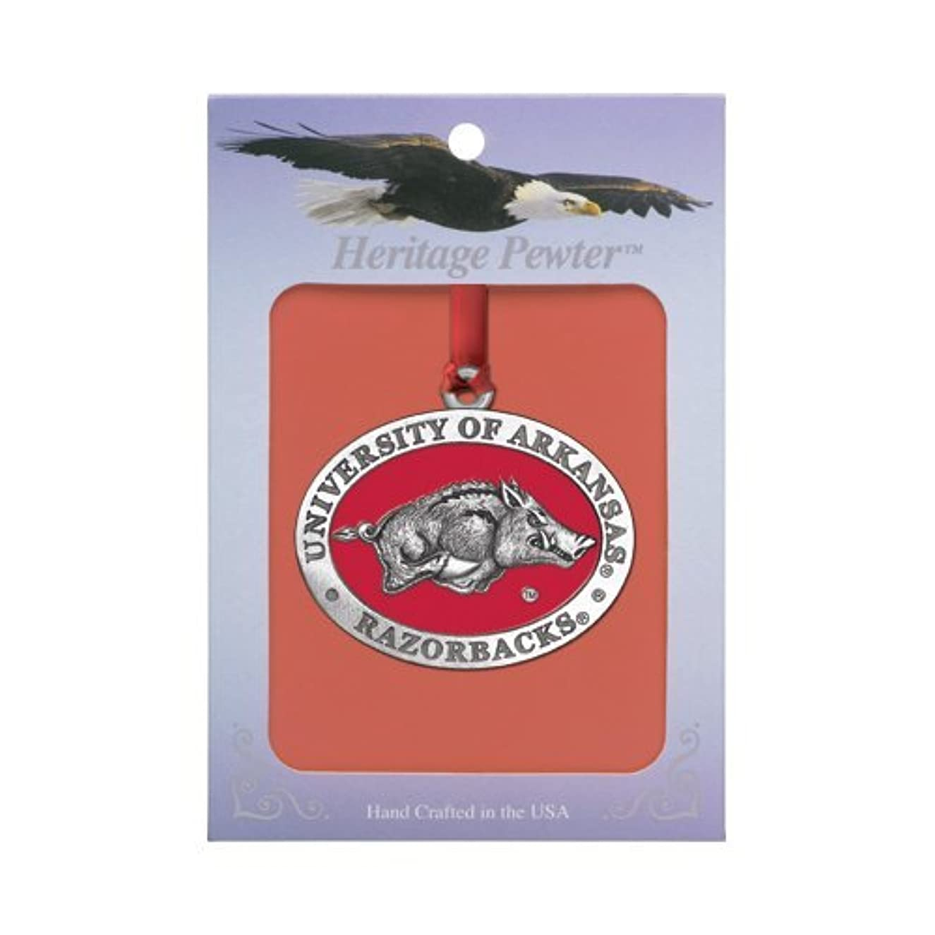 1pc, Pewter University of Arkansas Ornament