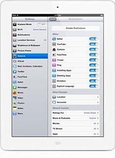 Apple iPad 3 Retina Display Tablet 16GB, Wi-Fi, White (Renewed)
