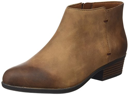 Clarks Damen Addiy Zora Combat Boots, Braun (Tan Leather), 41 EU