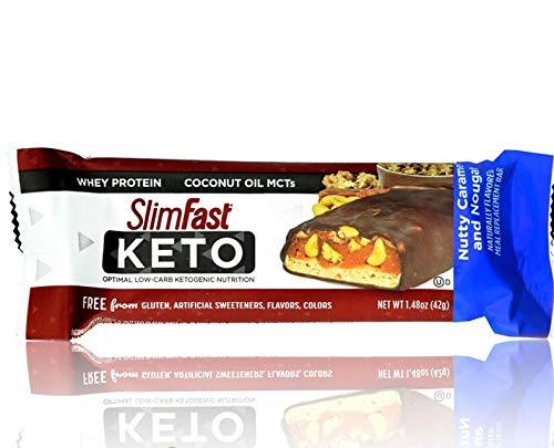 Slim Fast Keto Meal Bar, Nutty Caramel & Nougat 42g
