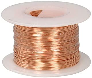 Jameco Valuepro Copper Bus Bar Wire, Non-Insulated, Annealed and Flexible, 24BC 24 AWG, 205' Length, for Jewelry Making, Hobbyists, and Crafters