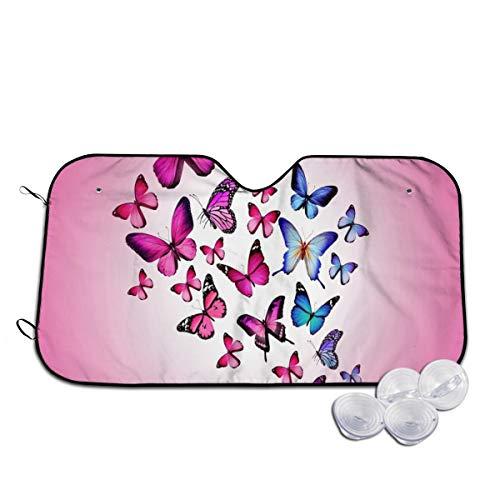 Rterss Vlinder tekenen vliegen kleurrijke voorruit zon schaduw vizier voorzijde venster glas voorkomen dat de auto van verwarming tot binnen gepersonaliseerd