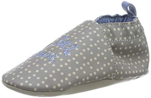 Robeez Unisex Baby Little Mouse Flache Hausschuhe, Grau (Gris 12), 19/20 EU