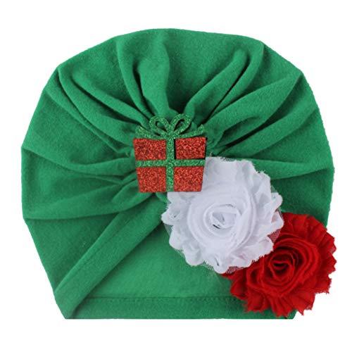 Cuteelf Weihnachten Haarband Baby Kopfschmuck Baby Hut Weihnachten Baby Kind Kopfschmuck Bogen Knoten elastischen Hut Hut Zubehör Weihnachten niedlichen Accessoires