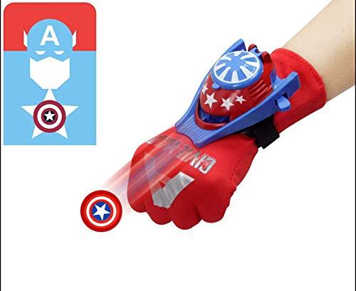 MYMAO 01Kinderspeelgoed, handschoenen staal Spider-Man Hulk pols Launcher Superman Batman Props