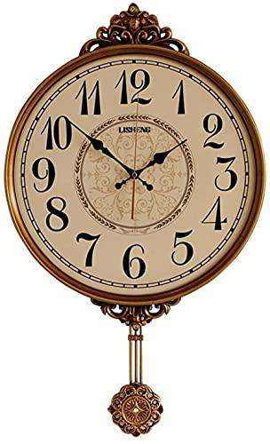 qwert Klassische Wanduhr Mit Pendel Pendeluhr, Antike Vintage Dekorative Wanduhr Quarzwerk Wobble Clock Klassische Vintage Schlafzimmer Salon