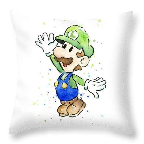 Lplpol Luigi - Federa decorativa per cuscino, in cotone e lino, 45 x 16 cm