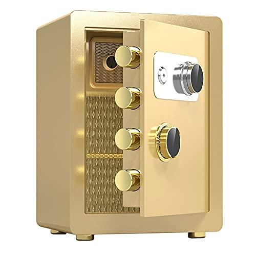Cajas Fuertes Cajas Fuertes De Acero Resistentes Al Fuego, Caja Fuerte Antirrobo De Gran Capacidad para El Hogar, Cajas Fuertes con Código Mecánico (Color : Gold, Size : 38x32x45cm)
