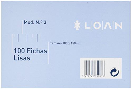 Loan Número 3 - Fichas lisas, 100 unidades