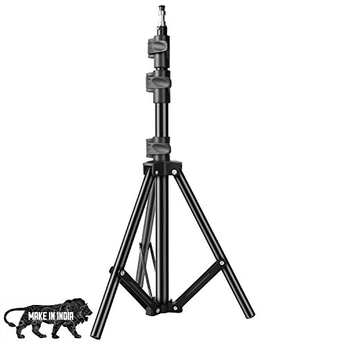 DIGITEK Lightweight & Portable 6 Feet Aluminum Alloy Studio Light Stand | for Videos | Portrait | Photography Lighting | Ideal for Outdoor & Indoor Shoots (DLS-006FT)