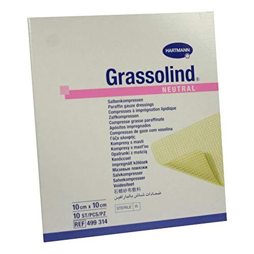 Grassolind Salbenkompressen 10x10 cm Steril, 10 St