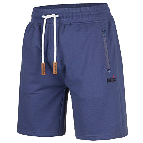 Mount Swiss MS Short, Liam, Insignia-Blue, maat S/korte broek/joggingbroek/sweatpants van 100% katoen.