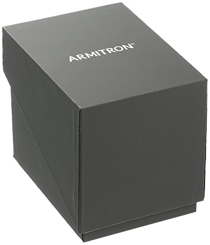 Armitron Women's 75/5597BKGPBK Swarovski Crystal Accented Gold-Tone and Black Leather Strap Watch
