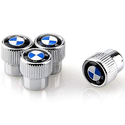 Valve Stem Caps Zinc Alloy Plating Chrome Tire Valve Stem Valve Caps For BMW (Set of 4)