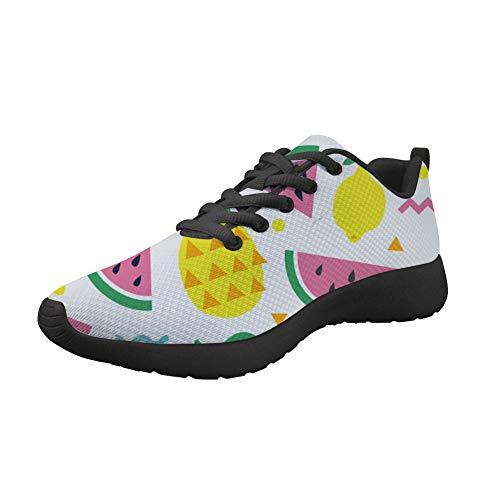 Amzbeauty Zapatillas deportivas para mujer con malla para correr, absorbentes y cómodas, antideslizantes, para gimnasio, deporte, con estampado de amor, color rosa 2-8UK, color Blanco, talla 38 EU