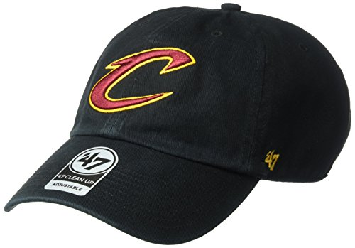 NBA '47 limpiar sombrero ajustable, Un tamaño - NBA Clean Up, Negro