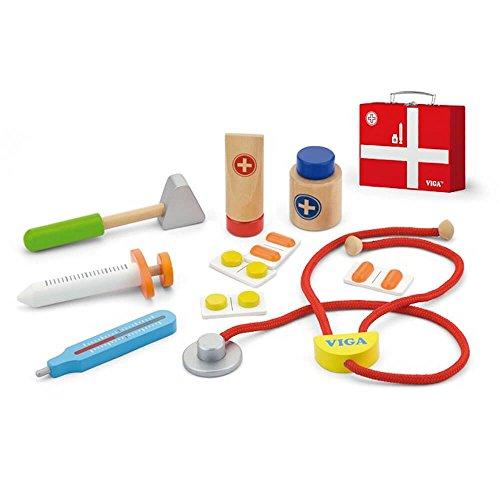 New Classic Toys Jouet en bois de médecin avec accessoires Viga Toys