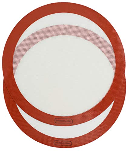 Premium Living Pizza Baking Silicone Mat 12' red (2, Red)