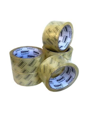 KIPPEN 9004T Confezione da 6 Rotoli di Nastro Adesivo Trasparente per Imballaggi, 0 V