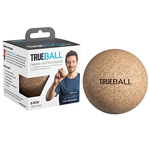 TRUEBALL by TRUETAPE® Faszien-Ball - nachhaltiger Massageball aus 100{28f0587255fac3359221da4df99ea73d9fcb8d2a23c16007c5719f35d8205d89} Kork zur gezielten Selbst-Massage | Mit Anleitungen für dein Faszien-Training | 8 cm