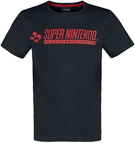 Nintendo SNES - Super Entertainment System Männer T-Shirt schwarz L