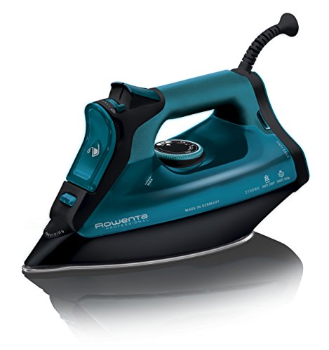 Rowenta DW8113 DW8113-Plancha (Plancha vapor-seco, Microsteam 400 soleplate, 2,5 m, 200, Negro, Azul, 40 g/min), 2700 W, 0.38 litros