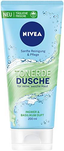 NIVEA Tonerde Dusche Ingwer & Basilikum Duft im 6er Pack, sanft reinigendes Duschgel mit frischem Duft, Pflegedusche für samtig weiche Haut