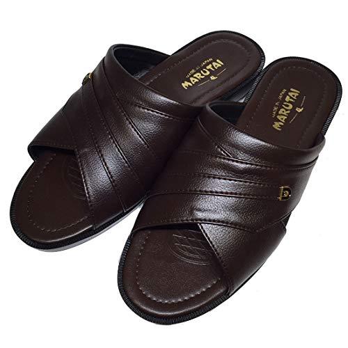 [マルタイ] コンフォートサンダル メンズ 4L 大きい 軽量 Marutai サンダル ヘップサンダル 前空き 日本製 BIG 大きめ 29 30 軽い 靴 つっかけ オフィス履き 男性 紳士(チョコ 4L【29.0-30.0】)
