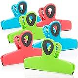 COM-FOUR® 6x clip sigillanti per sacchetti - clip sigillanti per sacchetti alimentari - clip sigillanti in plastica - clip per sacchetti per sigillare e mantenere freschi gli alimenti