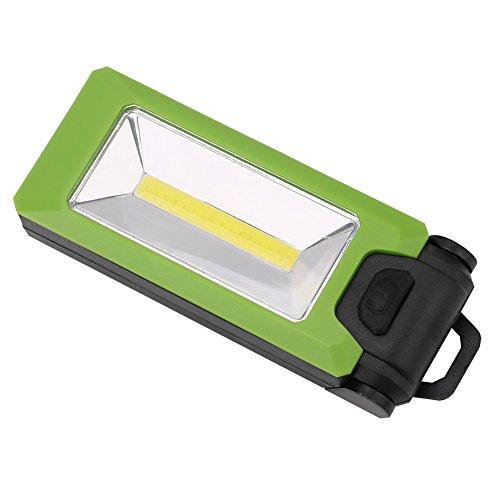Lonshell Portátil Linterna,Giratoria 180° Multi Color COB LED Luz de Trabajo Magnético Gancho Plegable Lámpara Colgante Flashlight Antideslizante Antorcha, Batería AAA (Baterías No Incluidas) (Verde)
