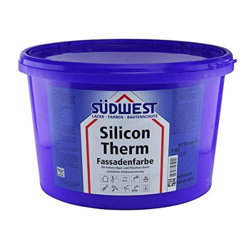 SÜDWEST Silicon Therm 12,5L Silikonharz Fassadenfarbe weiss matt