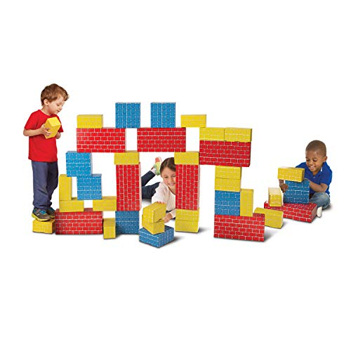 Melissa & Doug Jumbo Cardboard Blocks - 40 Pieces