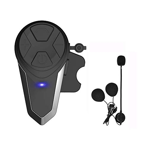 Motorcycle Bluetooth Headset, HuanGou BT-S3 Motorbike Helmet Intercom up to 3 Riders 1000M Helmet Communication System Supports Handsfree/Stereo Music/FM/GPS/ MP3 (Boom Microphone,Single)