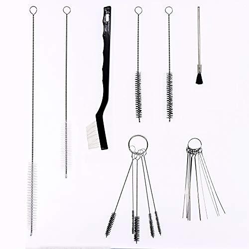 17pcs Airbrush Spray Gun Nozzle Cleaning Repair Tool Kit Needle & Brush Set