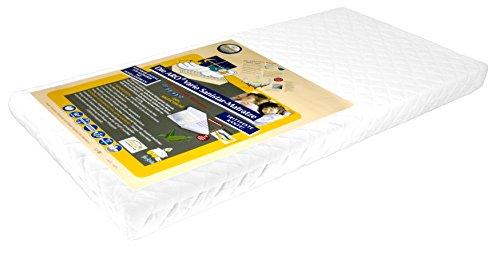 Aro Artländer 9207000 Vario-Sanistar Matratze, Kaltschaum Kern, Frottee Bezug, 60x120cm