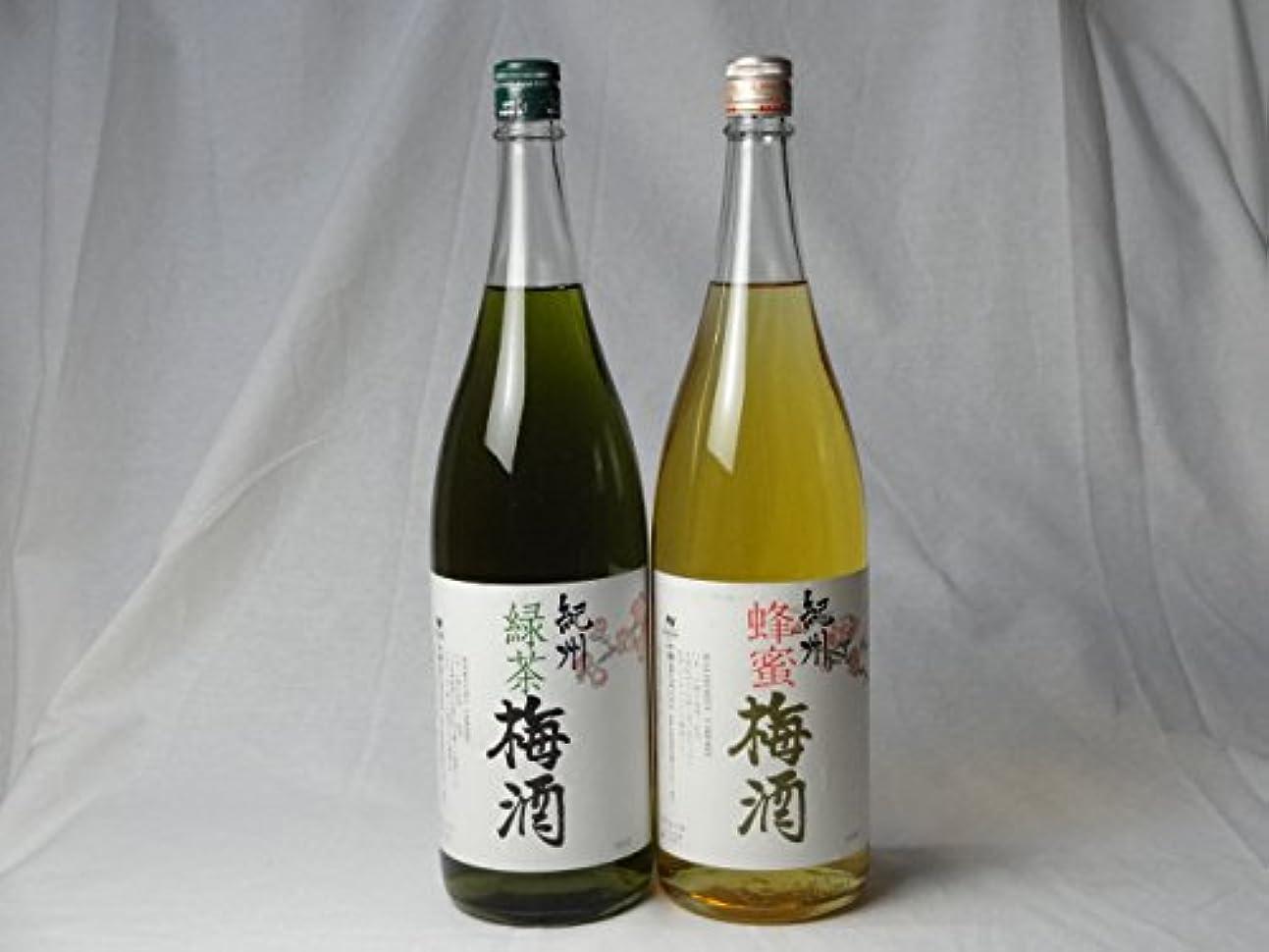 シングル割合摩擦こんな梅酒福袋が欲しかったぁ 飲み比べ2本セット(中野BC 緑茶梅酒 蜂蜜梅酒) 1800ml×2本