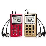 Retekess V112 Portable Pocket AM FM Radio Digital Tuning Mini Little Radios