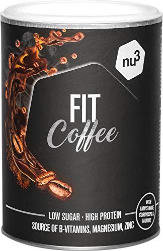 nu3 Fit Protein Coffee 270g - Proteinkaffe mit 17,6 g Protein pro Portion - enthält die Vitalpilze Lions Mane und Cordyceps - mit Magnesium, Zink und Vitamin-B-Komplex - pre- oder post workout Drink