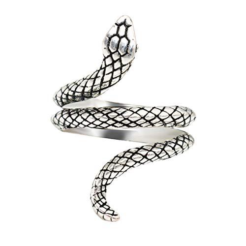 DIYOO Anello di Serpente Anello di barretta d'Argento Regalo di Pasqua per Le Donne Uomini 7#
