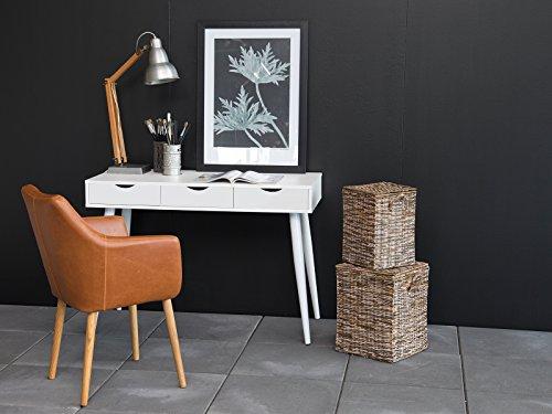 möbelando Schreibtisch Computertisch Bürotisch Arbeitstisch Tisch Büromöbel Neil I Weiß