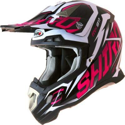 SHIRO - 000977-0036-XXS/449 : SHIRO - 000977-0036-XXS/449 : Casco Enduro Offroad Motocross MX-917 Thunder Color Rosa Fluor Talla XXS