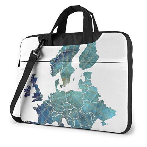 ChannyEurope Map Wind #Europe #map Mode Oxford Schouder Schokbestendig Laptop Tas Schouder Messenger Handtas Case Sleeve Compatibel